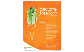Nutritionist & Dietitian - Flyer Template Design Sample