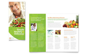 Nutritionist & Dietitian - Graphic Design Tri Fold Brochure Template