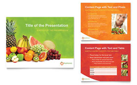 Nutritionist & Dietitian - PowerPoint Presentation Template Design Sample