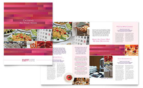 Corporate Event Planner & Caterer - Graphic Design Brochure Template