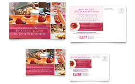 Corporate Event Planner & Caterer - Postcard Template Design Sample