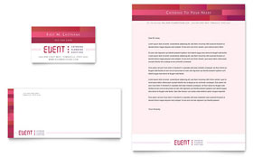 Corporate Event Planner & Caterer - Business Card & Letterhead