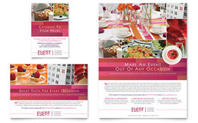 Corporate Event Planner & Caterer - Print Ad Template