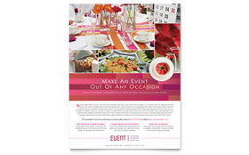 Corporate Event Planner & Caterer - Flyer Template Design Sample