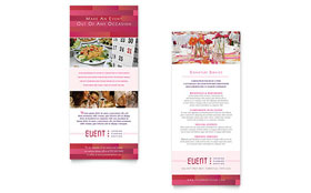 Corporate Event Planner & Caterer - Rack Card Template Design Sample