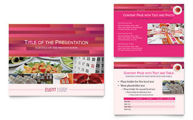 Corporate Event Planner & Caterer - PowerPoint Presentation Template Design Sample