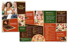 Pizza Pizzeria Restaurant - Menu Sample Template
