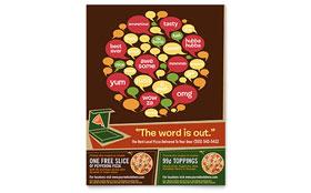 Pizza Pizzeria Restaurant - Leaflet Sample Template