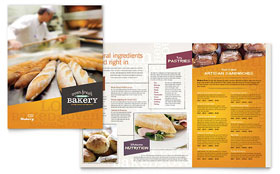 Artisan Bakery - Menu Sample Template