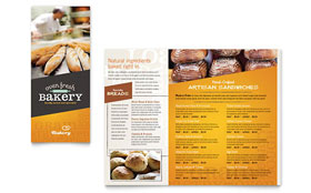 Artisan Bakery - Take-out Brochure Template