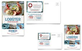 Seafood Restaurant - Postcard Template