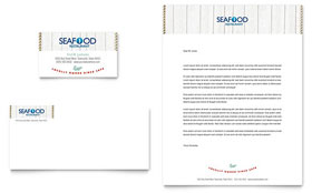 Seafood Restaurant - Business Card & Letterhead Template