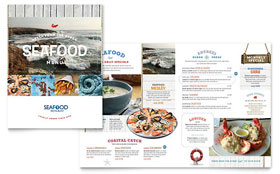 Seafood Restaurant - Menu Template Design Sample