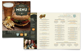 Brewery & Brew Pub - Apple iWork Pages Menu Template