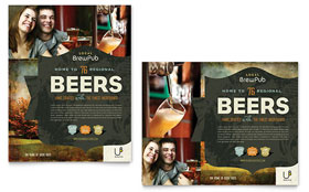 Brewery & Brew Pub - Poster Template Design Sample