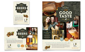 Brewery & Brew Pub - Flyer & Ad Template Design Sample