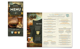 Brewery & Brew Pub - Take-out Brochure Template