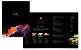 Sushi Restaurant - Microsoft Word Menu Template