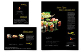Sushi Restaurant - Flyer & Ad Template Design Sample