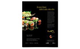 Sushi Restaurant - Flyer Template