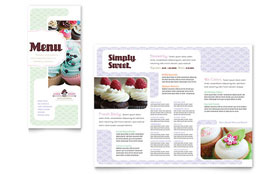 Bakery & Cupcake Shop - Graphic Design Menu Template