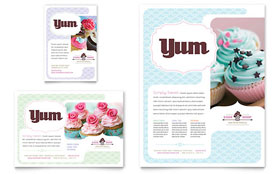 Bakery & Cupcake Shop - Flyer & Ad Template