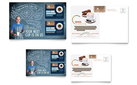 Coffee Shop - Postcard Sample Template