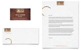 Coffee Shop - Business Card & Letterhead Template Design Sample