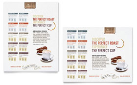 Coffee Shop - Poster Template Design Sample