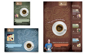 Coffee Shop - Leaflet Sample Template