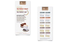 Coffee Shop - Rack Card Template Design Sample