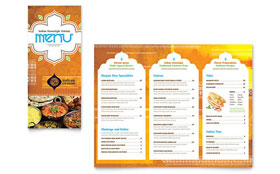 Indian Restaurant - Take-out Brochure Template