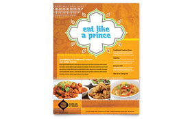 Indian Restaurant - Flyer Template