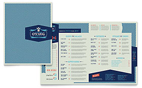 Fine Dining Restaurant - Menu Sample Template