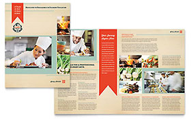 Culinary School - Microsoft Publisher Brochure Template