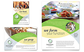 Food Catering - Print Ad Sample Template