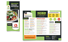 Pizza Parlor - Take-out Brochure Template