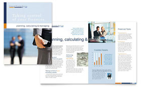 Financial Planning & Consulting - Apple iWork Pages Brochure Template