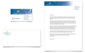 Investment Securities Company - Business Card Sample Template