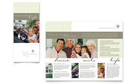 Life & Auto Insurance Company - Brochure Template Design Sample