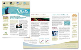 Investment Management - Newsletter Template Design Sample