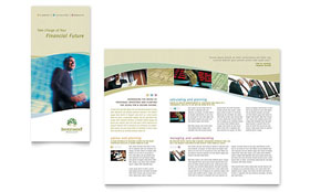 Investment Management - Tri Fold Brochure Template
