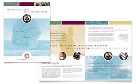 Financial Planning & Consulting - Brochure Template Design Sample