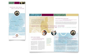 Financial Planning & Consulting - Print Design Tri Fold Brochure Template