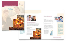 Investment Company - Microsoft Publisher Brochure Template
