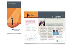Business Bank - Microsoft Publisher Brochure Template