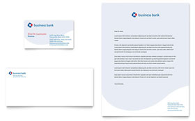 Business Bank - Business Card & Letterhead Template Design Sample