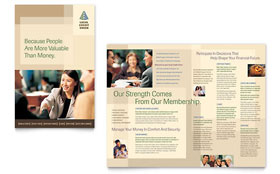 Credit Union & Bank - Brochure Template Design Sample
