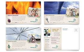 Life Insurance Company - Postcard Template Design Sample