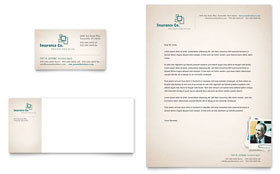 Life Insurance Company - Business Card & Letterhead
